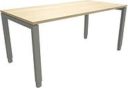 Manuell höhenverstellbarer Schreibtisch »Oldenburg« 160 cm 4-Fuß Rechteckrohr