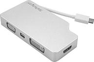 Startechcom Adaptador De Audio Y Video Para Viajes 4 En 1 Conversor Usb C A Vga Dvi Hdmi O Mini Dispayport 4