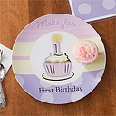 Personalized Baby Plate for Girls - First Birthday