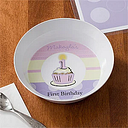Personalized Baby Bowl for Girls - First Birthday
