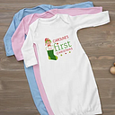 Personalized Baby's First Christmas Baby Gown