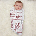 First Christmas Personalized Baby Receiving Blankets