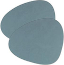 Platzset 'tableMAT' 2er-Set hellblau Nierenform