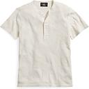 Camiseta Henley de algodón de punto waffle
