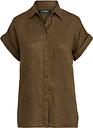 Kurzärmliges Leinenhemd