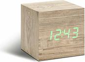 Gingko Cube Click Clock, Ash