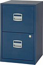 Bisley Metal Filing Cabinet 2 Drawer A4, Oxford Blue