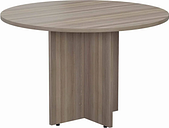 TC Office Round Meeting Table 1100mm, Grey Oak Effect