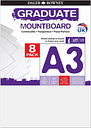 Graduate Mount Board A3 1250 Microns 8 Pack, White