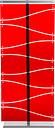 Separè da terra 75x22xh198 cm PAREO con telaio in metacrilato e sostegno in alluminio Rosso Trasparente