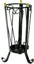 Portaombrelli in Ferro Battuto 22x22xh53 cm colore nero con pomelli in ottone