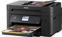 Epson Workforce C11CG28201 WF-2860 All-In-One Wireless Color Inkjet Printer, Copier, Scanner, Faxer - 14 ppm (Black), 7.5 ppm (Color) - U4800 x 1200 d
