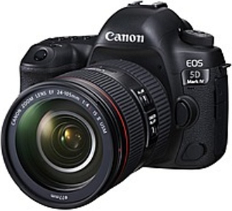 """Canon EOS 5D Mark IV 30.4 Megapixel Digital SLR Camera with Lens - 24 mm - 105 mm - Black - 3.2"""" Touchscreen LCD - 4.4x Optical Zoom - Optical (IS) -"""