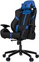 Vertagear Racing Series S-Line SL5000 Gaming Chair Black/Blue Edition Rev. 2 - High Density Foam (HDF) Black, Faux Leather Blue Seat - High Density Fo