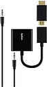 Belkin Universal HDMI to VGA Adaptor with Audio - HDMI/Mini-phone/USB/VGA A/V Cable for Chromebook, Chromecast, Apple TV, Amazon Fire TV, Raspberry Pi