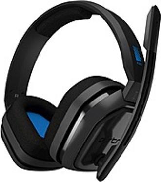 Astro A10 Headset - Stereo - Mini-phone (3.5mm) - Wired - 32 Ohm - 20 Hz - 20 kHz - Over-the-ear, Over-the-head - Binaural - Circumaural - Blue, Gray