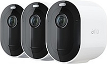 Arlo Pro 3 Wire-Free Security System - 3 Camera Kit - Camera, Base Station - 2560 x 1440 Camera Resolution - Alexa, Google Assistant Supported
