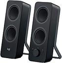 Logitech Z207 Bluetooth Speaker System - 5 W RMS - Black - 2 Pack