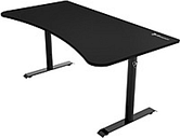 "Arozzi Arena Gaming Desk - Pure Black Rectangle Top - Pure Black T-shaped Base - 2 Legs - 63"" Table Top Width x 82"" Table Top Depth x 0.80"" Table Top"