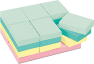 3M 653-24APVAD Pastel Notes Value Pack, 1 1/2 x 2, Assorted, 24 100-Sheet Pads/Pack